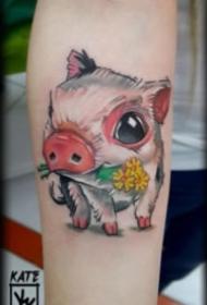 18张适合猪年的本命猪纹身图案