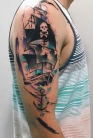 9张大年夜臂上的漂亮水彩纹身图案