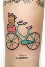小清新的一组单车自行车纹身图片