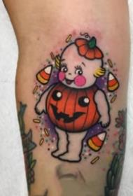 可爱的一组9张彩色卡通小纹身欣赏