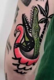 一组鳄鱼主题的纹身图片作品欣赏