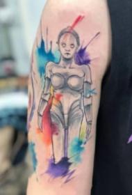 漂亮的一组水彩卡通纹身图案欣赏