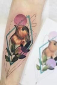 欧美彩色小清新可爱纹身图片欣赏