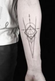 小清新好看的几何图形纹身欣赏