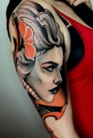 好看的一组欧美彩色创意纹身