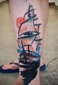 18张好看的小水彩纹身作品图片