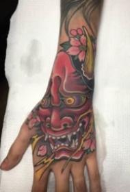 9张满手背的福狮般若等传统纹身图案