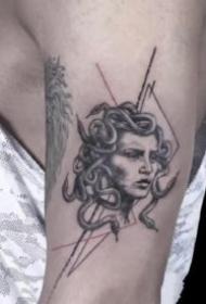 很有创意的几张线条几何纹身图片