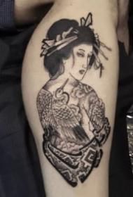 日式风格主题的人物纹身作品欣赏