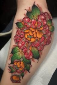 18张传统的牡丹花等纹身图案