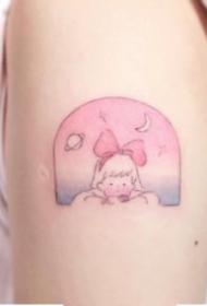 少女心爆棚的超可爱小卡通纹身图案