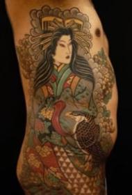 9张很有感觉的老传统半甲花臂纹身图案