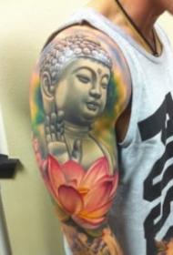 9张不常见的彩色佛像纹身作品图案