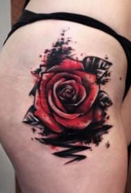 18張很漂亮的玫瑰花朵紋身圖片