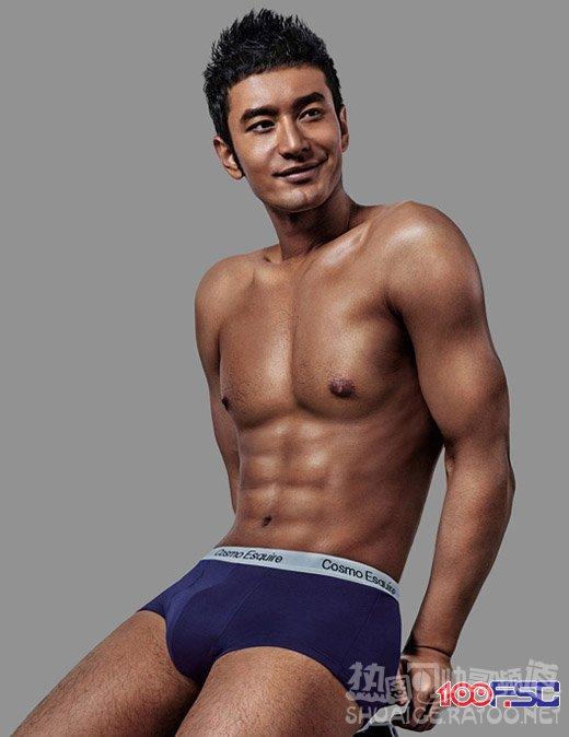 点击大图看下一张:内地人气明星帅哥黄晓明半裸艺术写真图片