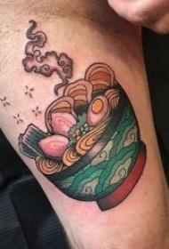 食物拉面纹身   美味而又令人垂涎欲滴的拉面纹身图案