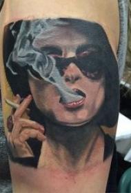 写实纹身  多款写实风格的个性人物肖像纹身图案