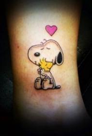 动画纹身图片   元素多样而又可爱的卡通形象纹身图案