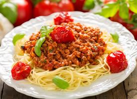 一組特別精致的美食意大利面圖片
