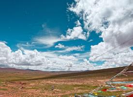 格尔木的蓝天白云风景图片欣赏