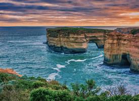 一组浪漫的海边悬崖高清图片欣赏