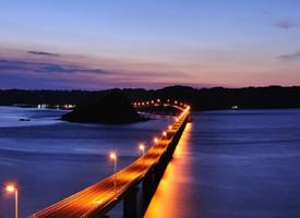 一座很美的大橋——日本角島大橋