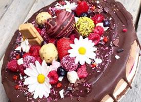 一组看起来就要流口水的巧克力芝士蛋糕