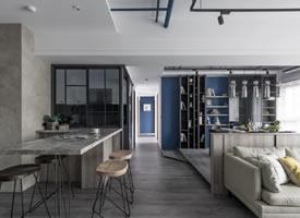 45坪小公寓开放式空间装修设计图欣赏