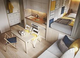 25㎡迷你公寓設計案例,麻雀雖小五臟俱全