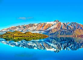 蓝色唯美海滨风景图片桌面壁纸