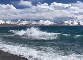 西藏,超美的納木錯海邊風景圖片欣賞