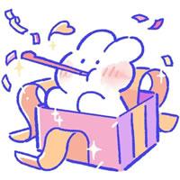 一組可愛的卡通小兔子圖片欣賞
