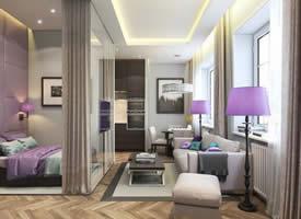 35平米精致小公寓装修效果图欣赏