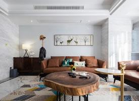 简约北欧风家居设计,客厅桌子造型很有意思