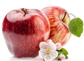一组红红的苹果特写图片欣赏