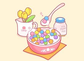 可爱粉色卡通手机壁纸欣赏