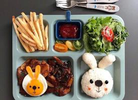 一位来自韩国的妈妈给孩子做的饭菜