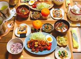 日本博主うめまゆ精心准备的每日二人食