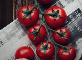 一组拍摄的特别有意境感的番茄图片