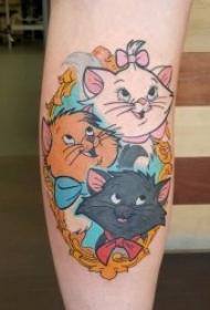 卡通可爱纹身图案 彩色纹身动画迪士尼卡通可爱纹身图案