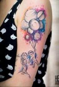 紋身星球   技巧性十足且不失時尚感的星球主題紋身圖案