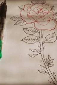 鉛筆素描紋身手稿 一組十分精致的鉛筆素描黑灰紋身素材