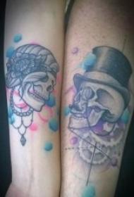 紋身情侶圖案 10組非常有創意的情侶紋身圖案