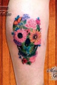 植物紋身圖案 多款或黑灰或彩色十分漂亮的植物紋身圖案