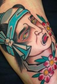 日本风格纹身 10组传统纹身人物及动物日本风格纹身图案
