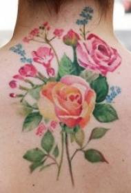水彩纹身图片    多款水色交融的水彩纹身图案