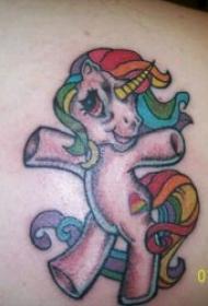 独角兽纹身图案 多款彩绘纹身风格的独角兽纹身图案