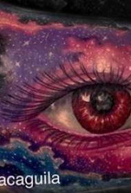 紋身眼睛   8款溫柔而又幽深的眼睛紋身圖案
