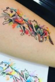 狗纹身图案 10款动物小狗及狗头的纹身图案