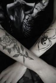 蜘蛛纹身图案 10款可怕且个性十足的蜘蛛纹身图案